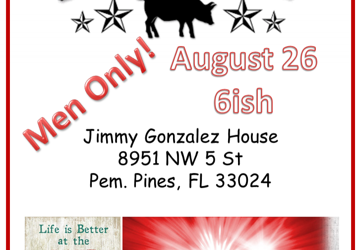 Pig Roast and Pay-Per-View by the Lake at Jimmy Gonzalez's house. 8951 SW 5 ST, Pembroke Pines